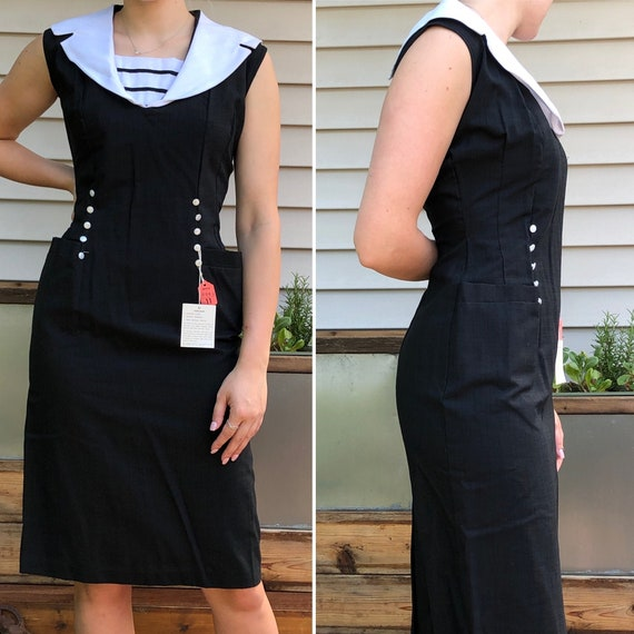 Office Distraction Vintage Sheath Dress