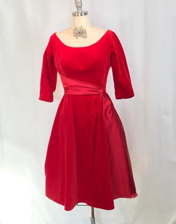 Red Velvet Party Dress
