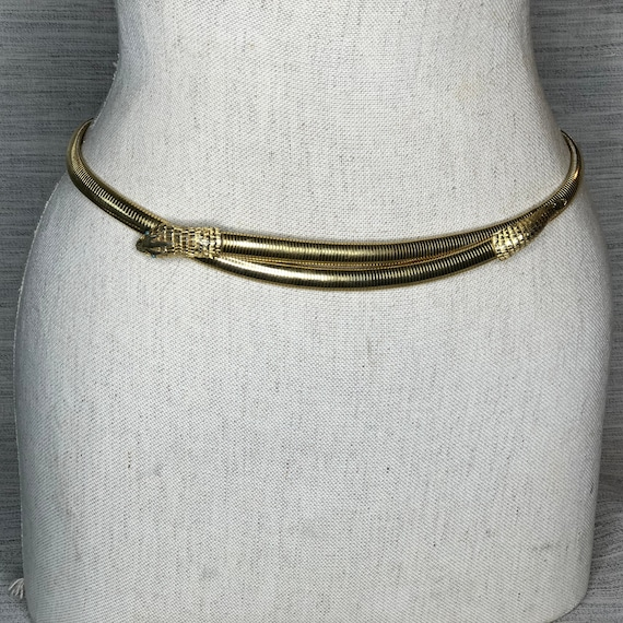 Accessocraft New York Gold Snake Belt with Snake H