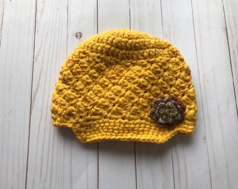6c28c16ac02 Gold newsboy hat