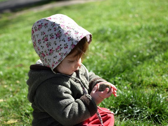 a9ab32b6695 Little red roses summer hat baby bonnet sun bonnet by Tiny