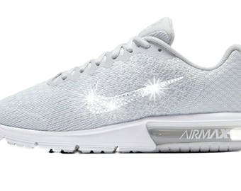 Women's Bling Nike Air Max Sequent - Perfect Gift - Nike Shoes-Swarovski Nike - Nike Swarovski - Bling Nike Shoes - Bedazzled Nikes-
