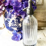 A lovely miniature Soda syphon glass seltzer bottle