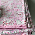 "Cath Kidston ""Rosalie"" pink paisley double duvet cover with matching pair of pillow cases"