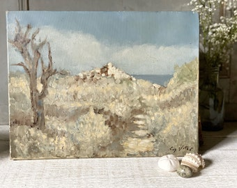 A French Impressionist style landscape painting oil on canvas of a Bastide on the Côte d'Azure