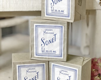 """French dead stock packets of old matches """"Sonet"""""""