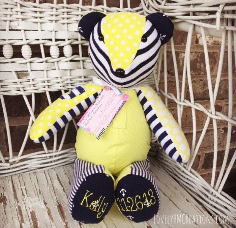 Baby Memory Bear 17 Keepsake Embroidered