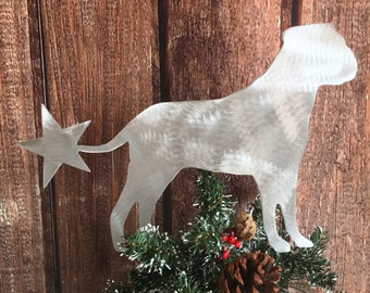 Yorkie Yorkshire Terrier Angel Aluminum metal Holiday Decoration Adorable Dog Christmas Tree Topper Wall hanging or yard stake