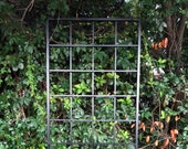 Large Multi Sizes, Classic Metal Garden Wall Mounted or Stake Trellis, up to 9ft, All Aluminum, Handmade, bougainvillea, ivy, climbing vines