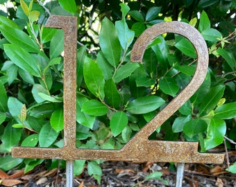 Early Heavy Brass House Number 841 Plate Placard Sign 7 14 long by 2 58 inches tall