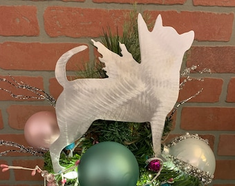 Angel Holiday Decoration Rottweiler Dog Lovers Wall Hanging Pet Memorial Yard Stake Handcrafted Aluminum Dog Christmas Tree Topper
