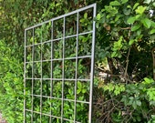 Large Multi Sizes, Classic Metal Garden Wall Mounted Trellis, up to 9ft, photos show 6ft x 4ft Aluminum, Handmade, roses, climbing vines