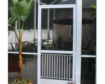 Half Screen Door Grille, Gate Style, Simple, Clean Design made of all aluminum, protects and customizes your screen door