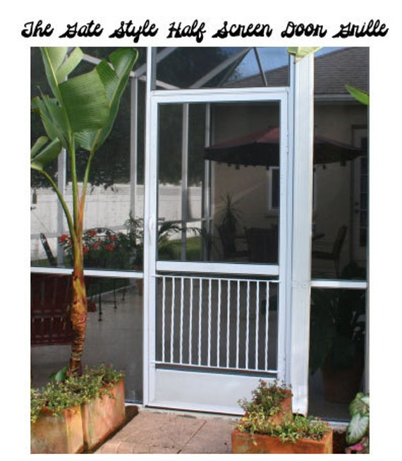 Half Screen Door Grille Gate Style Simple Clean Design Made Etsy
