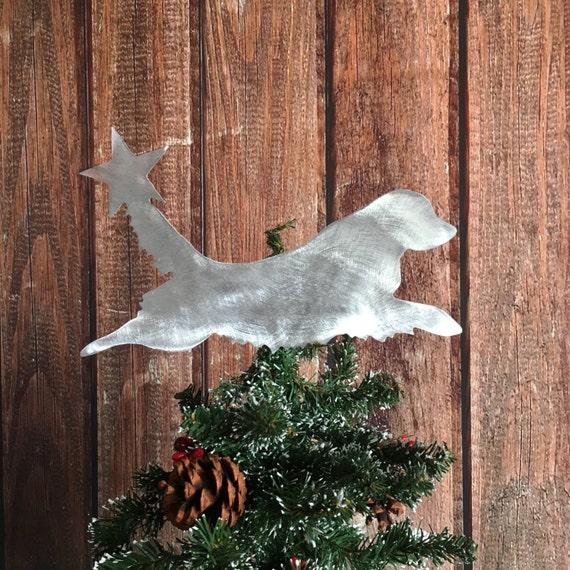 Golden Retriever Dog Christmas Tree Topper Holiday | Etsy