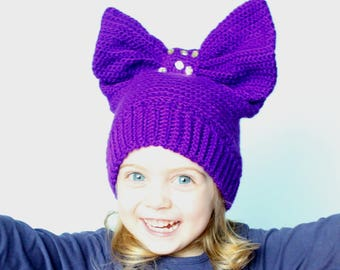 Crochet Hat Pattern, Crochet Hat Women, Crochet Hats Kids, Crochet Hat Patterns for Women, Bow Hats Girls, Crochet Hat Pattern Girls