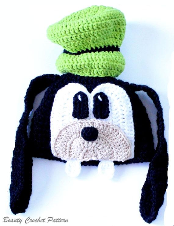 Crochet Pattern Goofy Hat Goofy Hat Newborn To Adult Hat Etsy