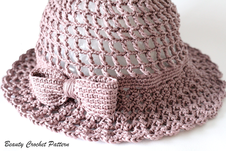Crochet Summer Hat Patterns, Crochet Sun Hat Pattern, Summer Cloche ...