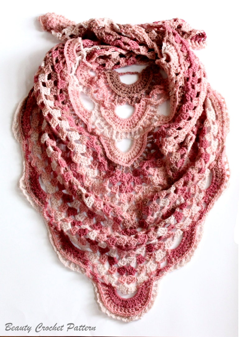 Crochet Triangle Scarf Pattern Crochet Shawl Pattern Etsy