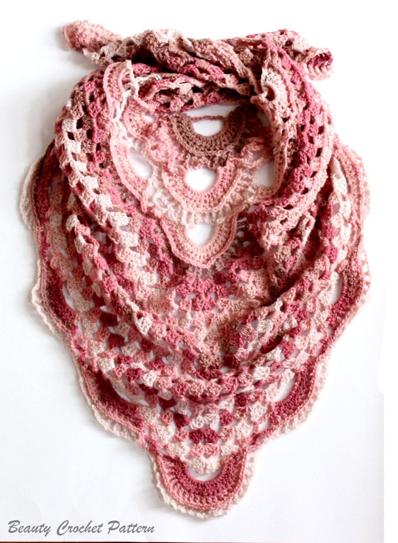 Crochet Triangle Scarf Pattern Crochet Shawl Pattern Etsy