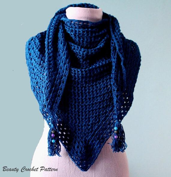 Shawl Crochet Pattern Scarf Crochet Pattern Lace Shawl Etsy