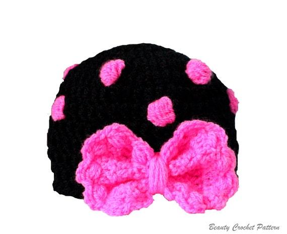 Crochet Baby Girl Hat Pattern Polka Dot Crochet Hat Pattern Etsy