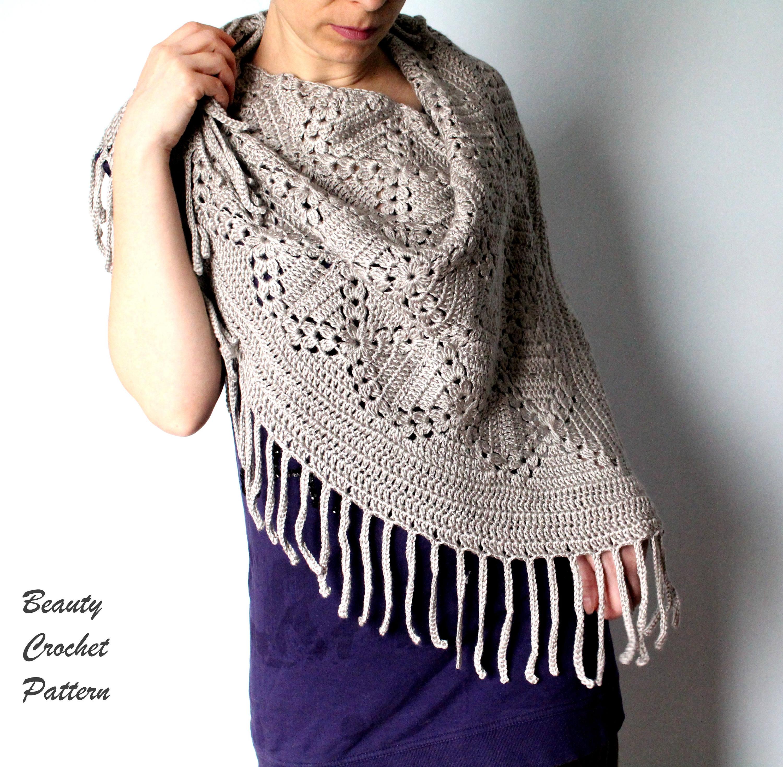 Crochet Pattern Shawl Crochet Pattern Scarf Crochet Scarf Etsy