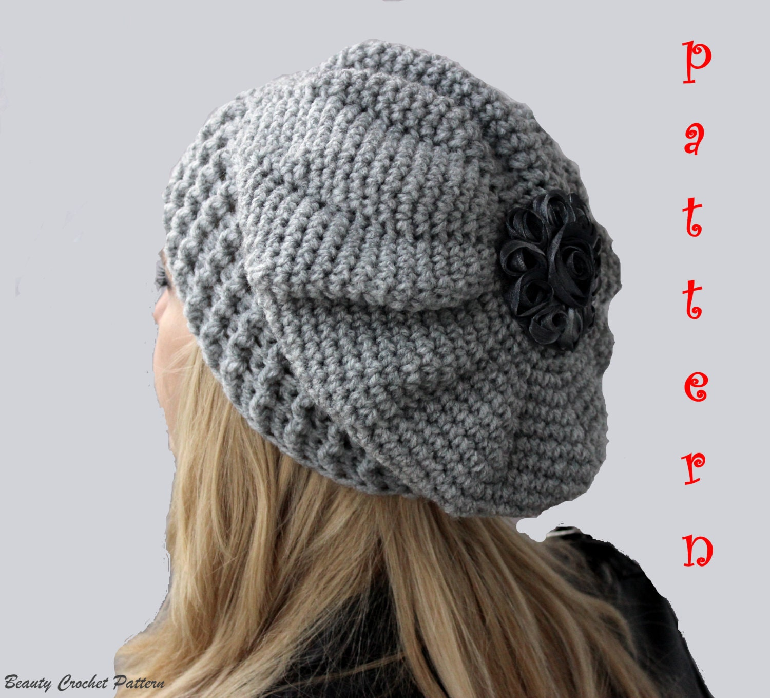 Slouch Hat Crochet Pattern Simple Decorating Ideas
