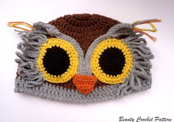 Crochet Owl Hat Pattern Crochet Baby Owl Hat Pattern Crochet Etsy
