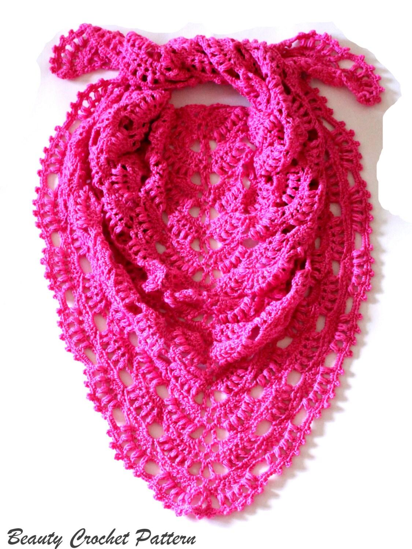 Crochet Shawl Pattern Lace Shawl Crochet Pattern Summer   Etsy