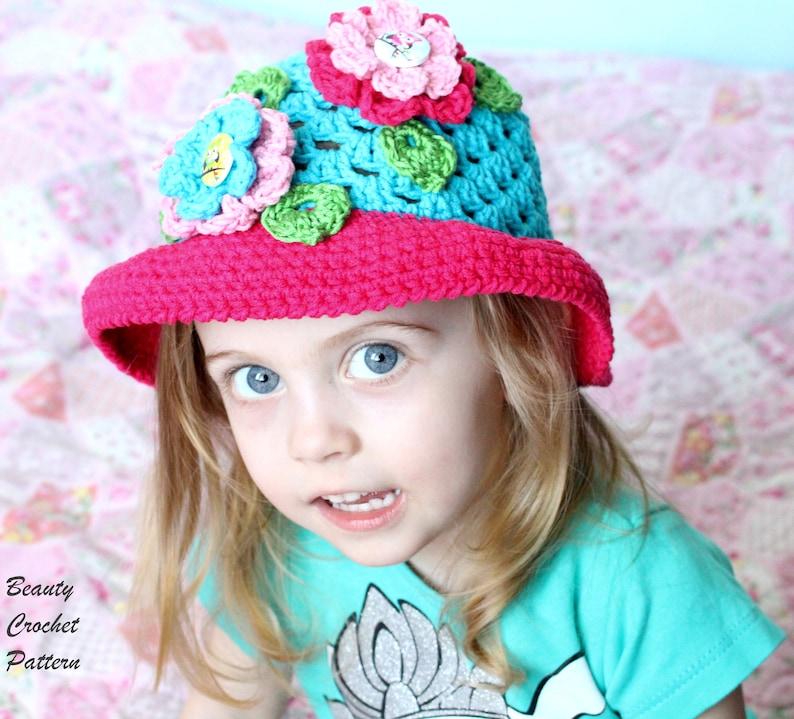 Cloche Hat Pattern Crochet Hat Pattern Brim Summer Hat Pattern Crochet Hat Women Crochet Hat Patterns For Girls Crochet Hat Pattern