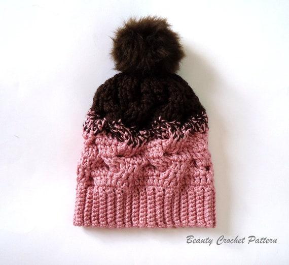 Crochet Hat Pattern Crochet Cable Beanie Pattern Hat Pattern  b1858f176e