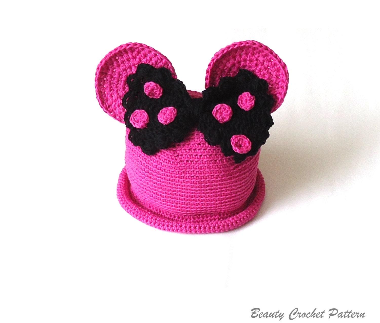 Miss Bow Mouse Crochet Summer Hat Pattern Brimmed Summer Girl Etsy