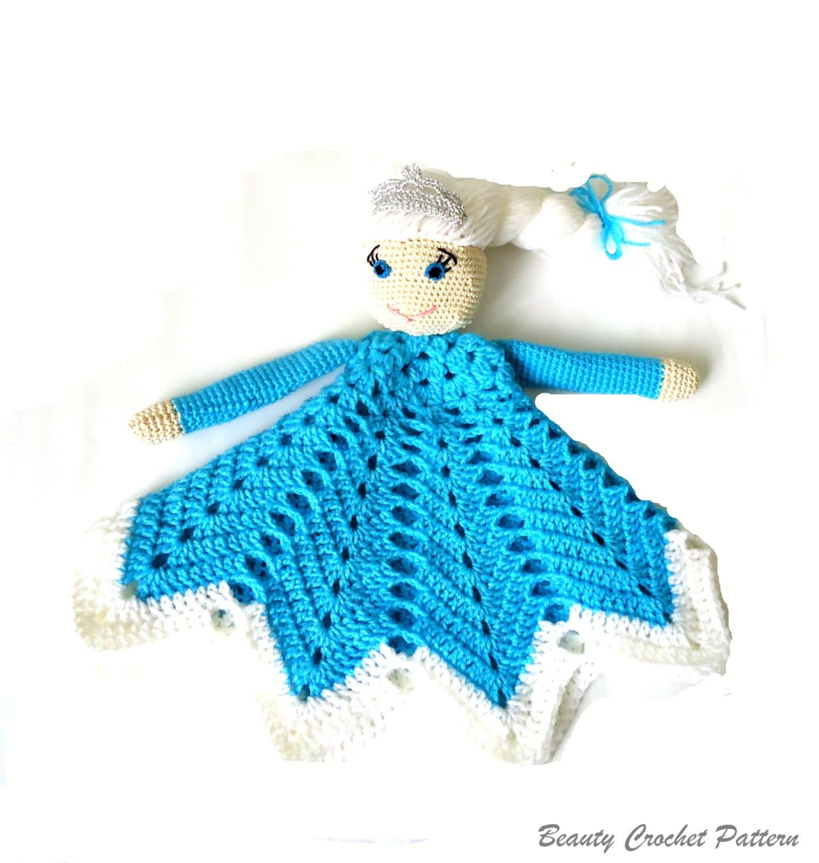 Crochet Lovey Pattern Ice Queen, Baby Security Blanket Pattern ...