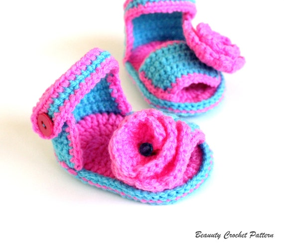 Crochet Pattern Baby Girl Sandals Baby Sandals Crochet Etsy