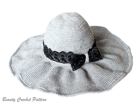 Crochet Brim Hat Pattern Wide Brim Hat Pattern Floppy Hat  f7748c7e59a