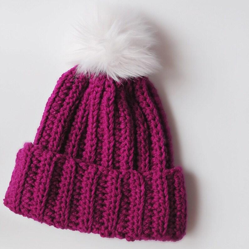 5cd8385cca3 Ribbed beanie women s hat with pom pom crochet beanie