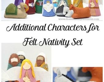 felt nativity set patternchristmas nativity scene templates etsy