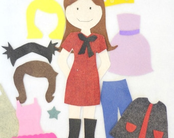 Felt Doll Dress-Up Pattern//INSTANT DOWNLOAD