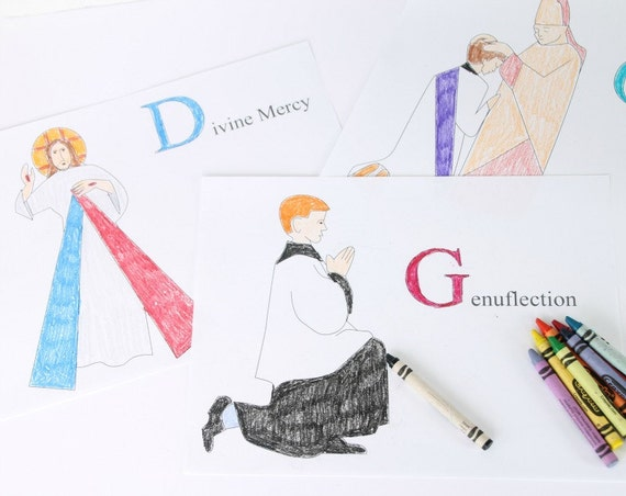 - 26 Catholic Coloring Pages ABC Coloring Pages Of The Catholic Etsy