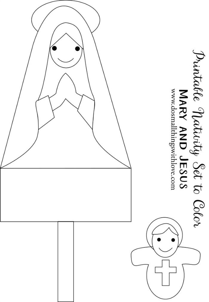 Printable Nativity Set Advent Calendar Coloring Pages for ...