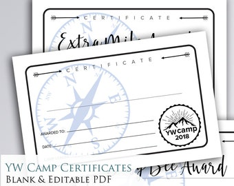 camp awards etsy