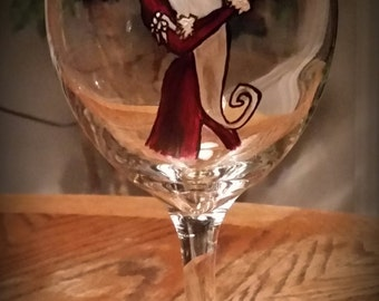 Nighmare Before Christmas Wine Glass