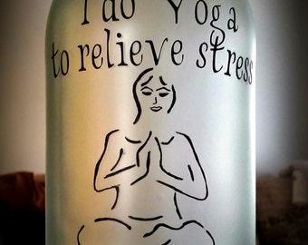 Yoga lighted bottle