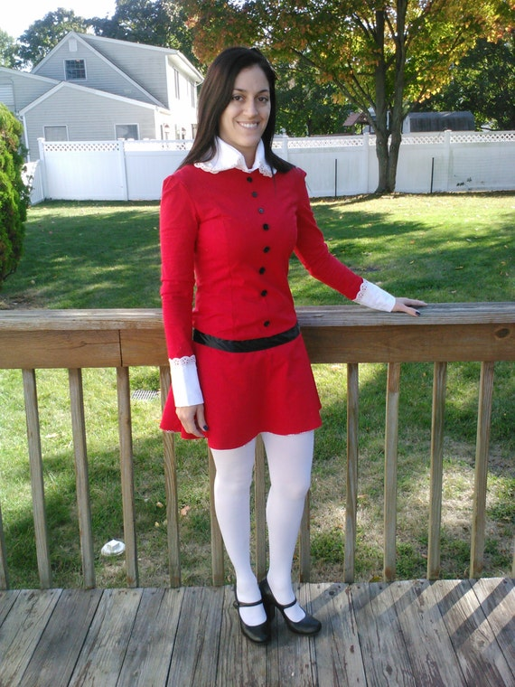 Veruca Salt Costume Willy Wonka And The Chocolate Factory 1971 Stretch Knit Teenagewomen Sizes Only 4 22