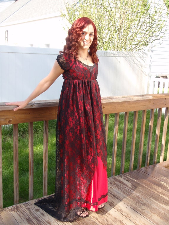 Vintage Tea Dresses, Floral Tea Dresses, Tea Length Dresses Variation Titanic Rose Jump Dress $185.00 AT vintagedancer.com