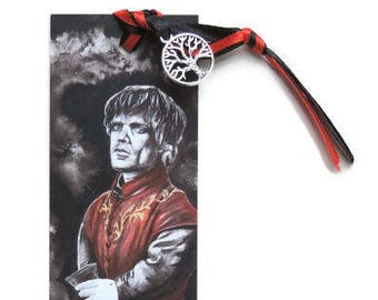 Bookmark: Tyrion/God of wine/ thrones / Summer reading Pleasure /  Nice handmade Gift for fan, friend or yourself