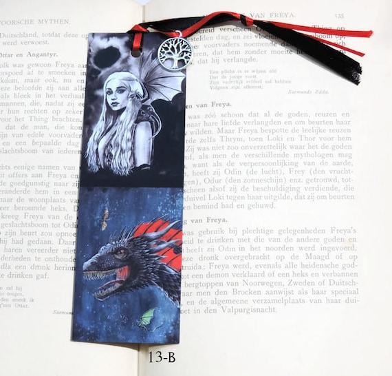Handmade Game Of Thrones Bookmark Kaleeshi And Drogon Etsy
