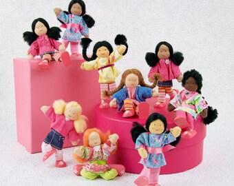 Girl Dollhouse Dolls