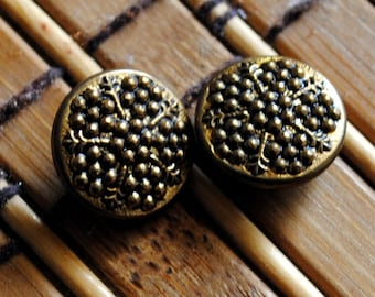 Vintage Metal Round Two Piece Shank Style Button